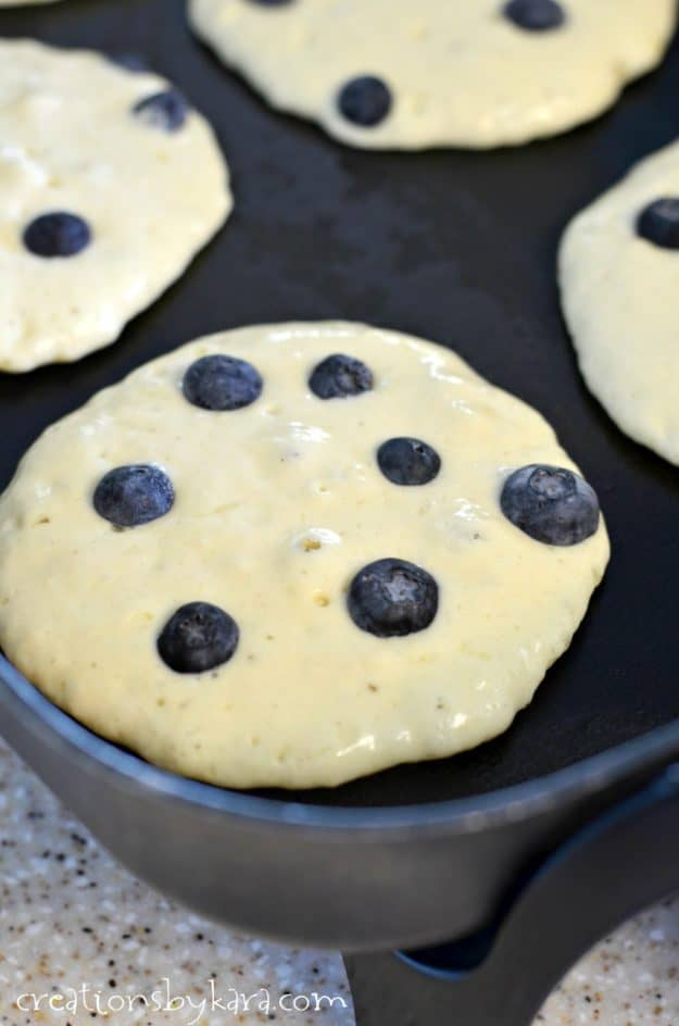 Trick for making the best blueberry pancakes from scratch.