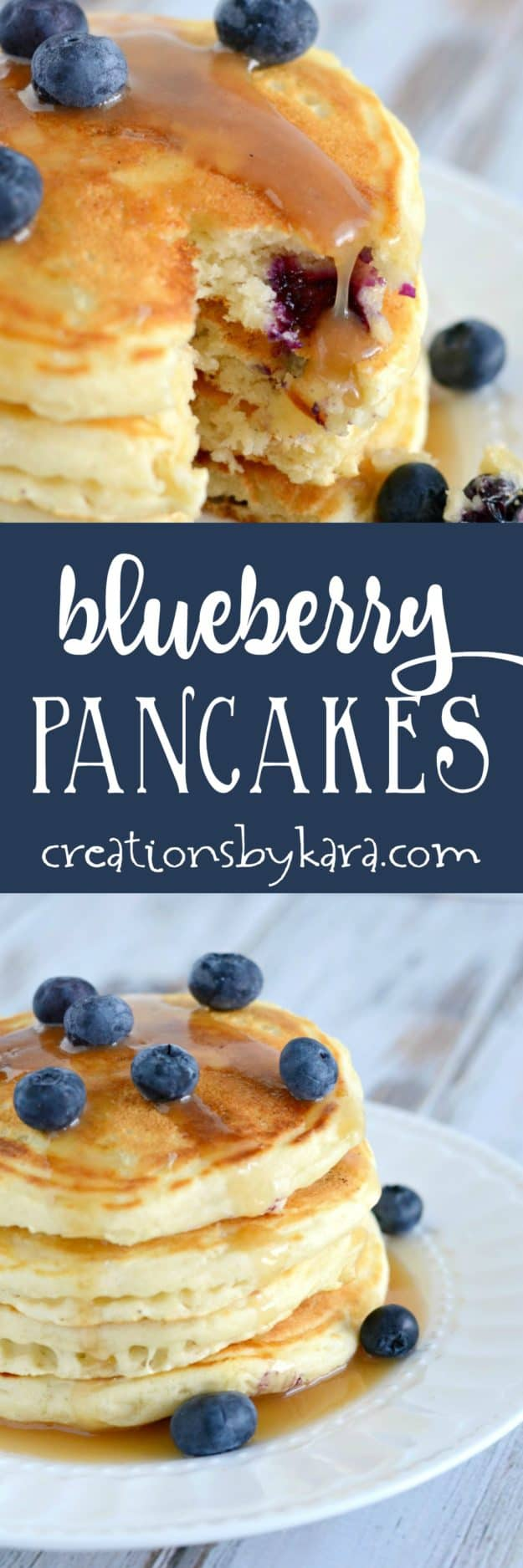 Blueberry Pancakes recipe -these made from scratch blueberry pancakes are simple, but delicious. A perfect blueberry pancake recipe!